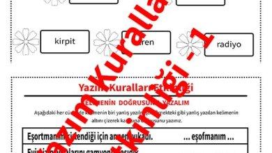 Photo of İlkokul 1.Sınıf Türkçe Yazım Kuralları Etkinliği – 1