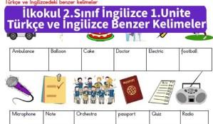ilkokul_2_Sinif_ingilizce_1_Unite_Turkce_ve_ingilizcedek_benzer_kelimeler