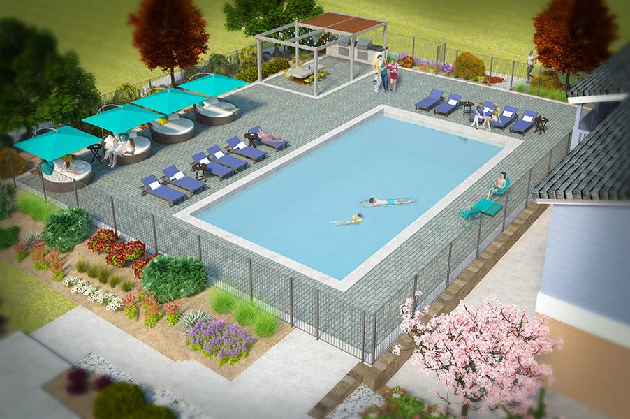Park Place Pool Renovation 3D Model