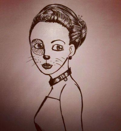Cat wannabee noir & blanc