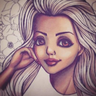 Portrait de ma soeur - coloriage visage