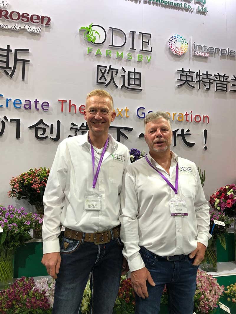 team odiefarms at the hortiflorex expo in Shanghai