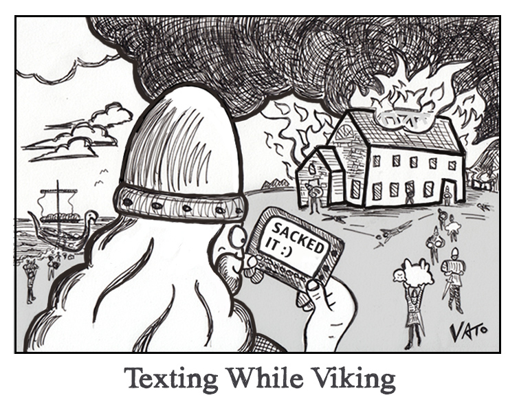 Texting While Viking
