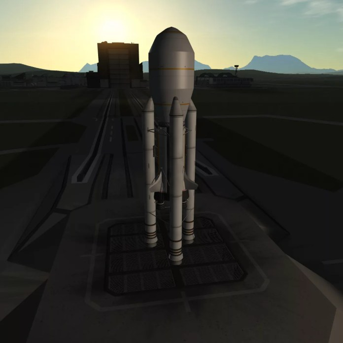 Borrum II on the launch pad
