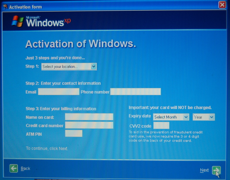 Windows Activation Virus – PHISHING ALERT