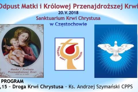 Odpust Maryjny w Sanktuarium Krwi Chrystusa Częstochowa