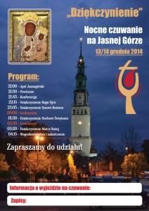 Nocne czuwanie na Jasnej Górze 13/14 grudnia 2014 @ Jasna Góra - Częstochowa | Częstochowa | śląskie | Polska