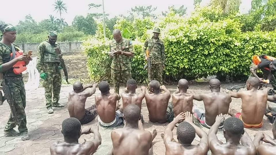 Thugs arrested my Nigeria soldiers