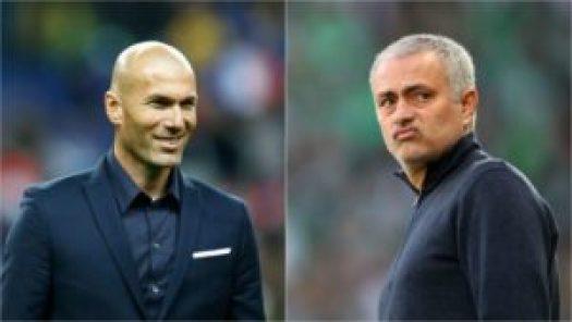 Zinedine Zidane  and  Jose Mourinho