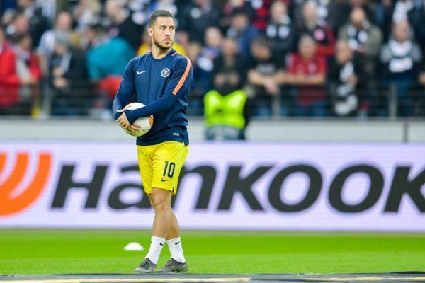 Eden Hazard was left on the bench in 1-1 draw vs Frankfurt yesterday