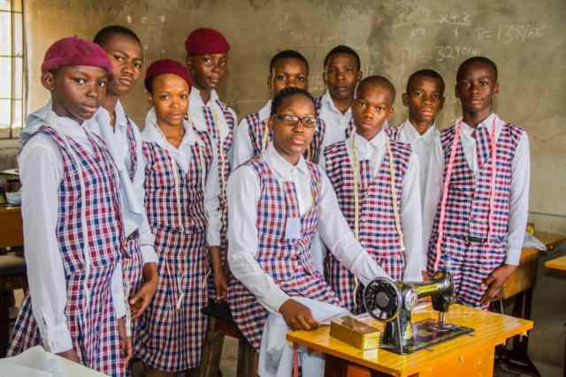 Some students of  EPIGNOSIS St Monica's group of schools Woliwo Onitsha