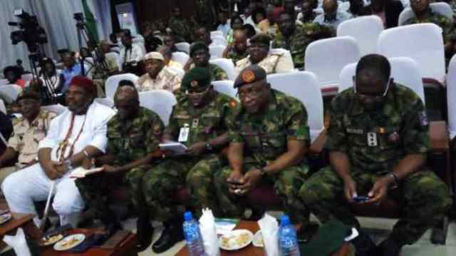 Guests listening to the lecture at   2 day Army summit for Media, Civil , Military relations in Enugu 82   Div