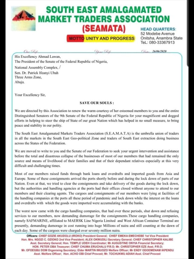 Save Our Soul letter to senate