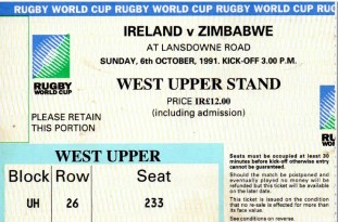 rugby world cup ticket