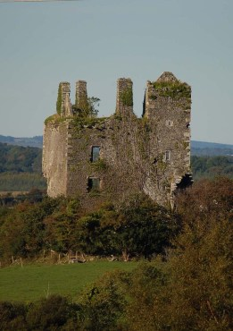 12 Geoffrey O'Donoghue's Killaha Castle, ruined in the devastation of the seventeenth century