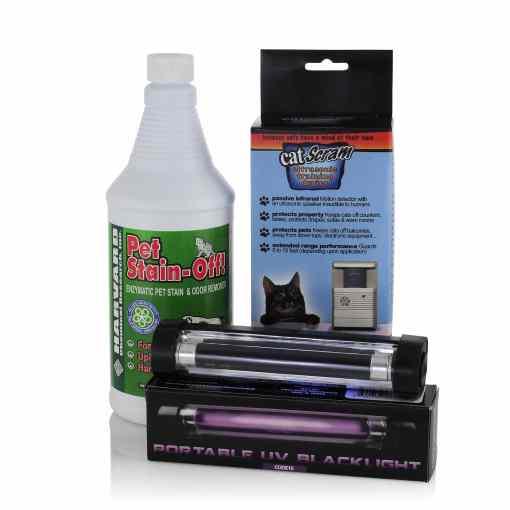 Pet Stainoff, Handheld Blacklight, CatScram - Value pack