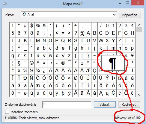 Jak na klávesnici napsat speciální znaky?