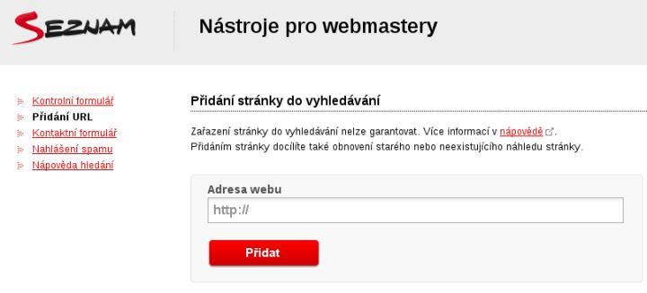 Jak udělat ruční rychlou indexaci stránek u Seznam.cz
