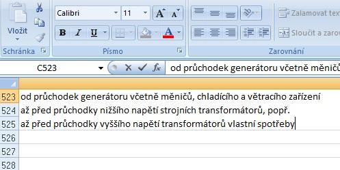 Jak v Excelu najít a nahradit konce řádků?