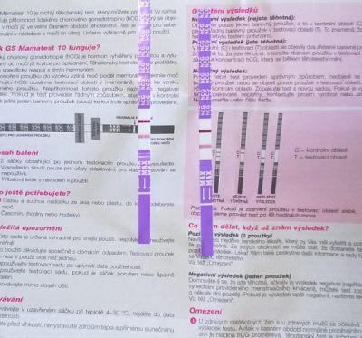 Dva pozitivní těhotenské testy