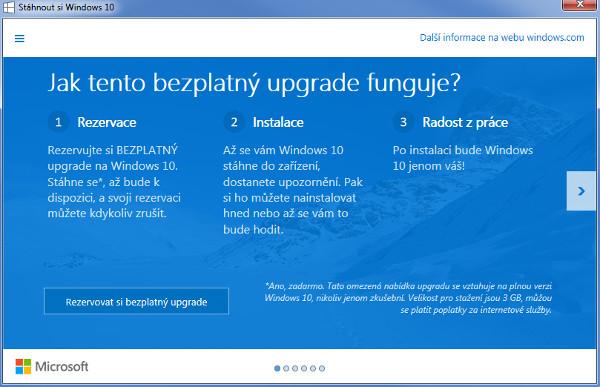 Jak se zbavit rezervace updatu Windows 10?