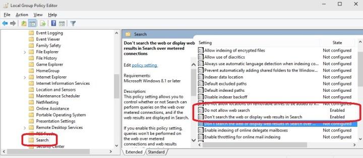 Jak ve Windows 10 vypnout vyhledávání souborů na internetu?