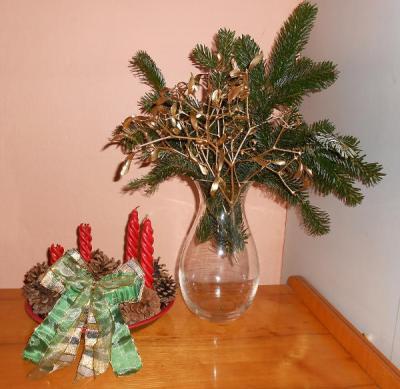 Ukázka vánoční dekorace