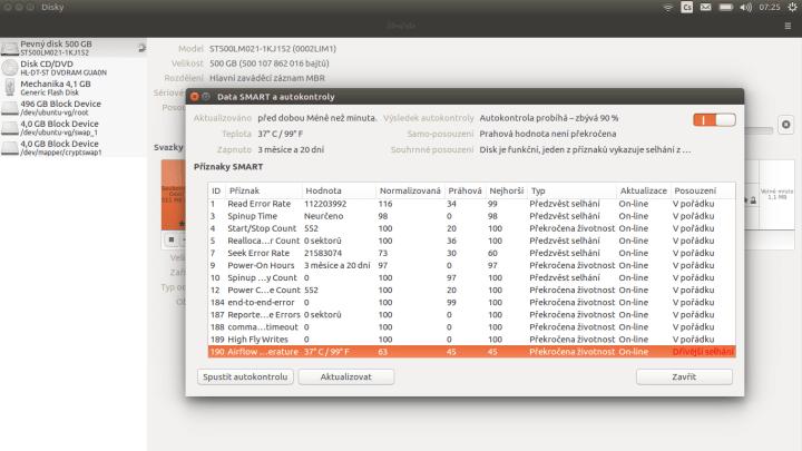 Jak zkontrolovat disk v Ubuntu?