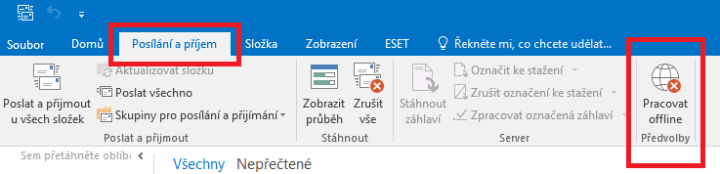 Outlook offline režim