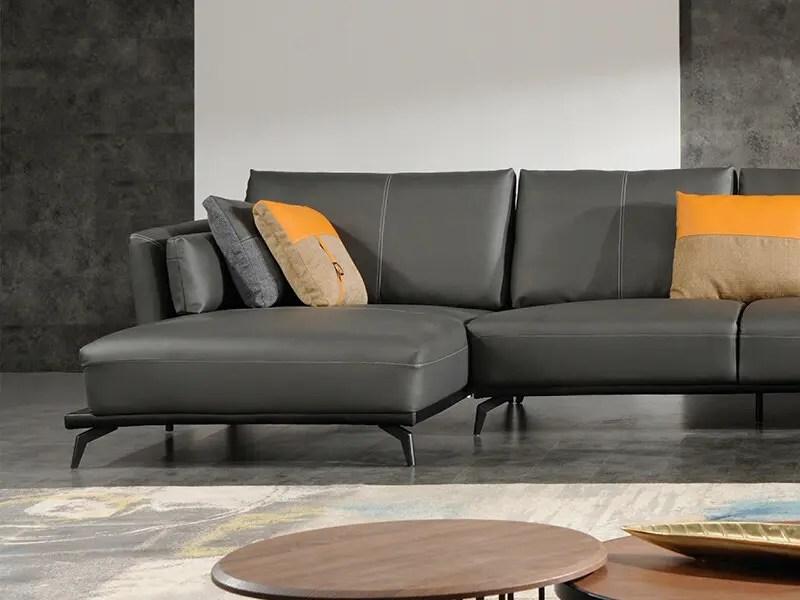 極致現代L型皮沙發 | 歐德斯沙發工廠
