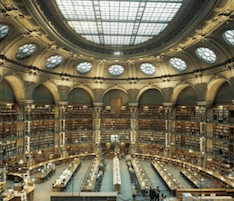 French National Library reading room