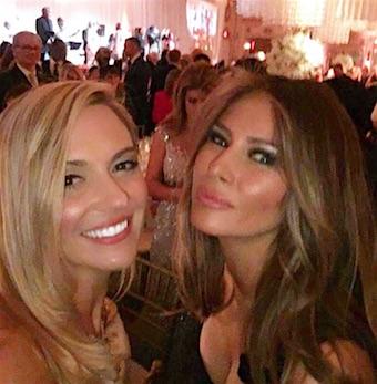 Lynn Aronberg & Melania Trump