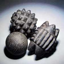 Carved Stone Objects from Skara Brae, image courtesy of Odyssey Adventures.