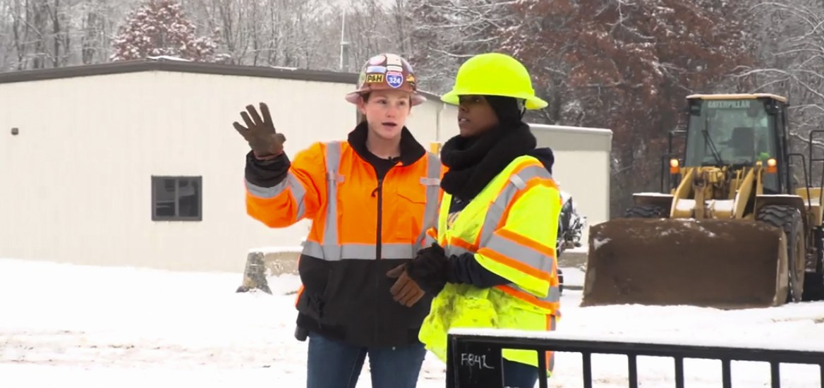 Female engineer is standing out, blazing trails through drive and determination