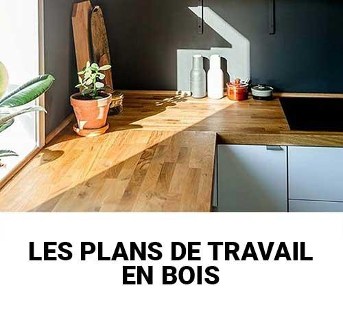 plans de travail en bois massif sur mesure