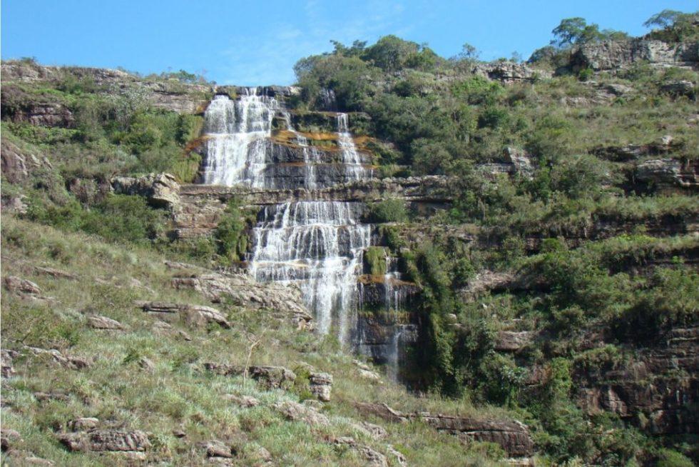 Cachoeira do rio Pedregulho, no Parque Estadual do Guartelá. Foto: Observatório de Justiça e Conservação.