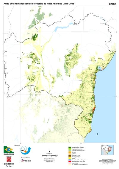 O mapa da destruição na Bahia. Crédito: Divulgação/Atlas.