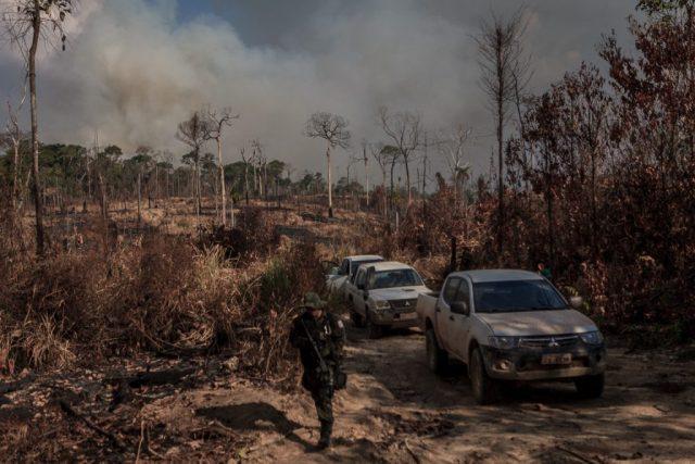 Batalhão da Polícia Ambiental acompanha servidores do ICMBio nas atividades de fiscalização. Foto: Bernardo Camara.