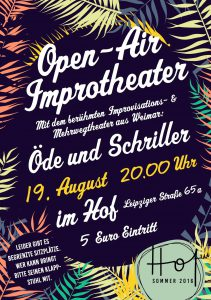 Flyer Hof Impro Open Air