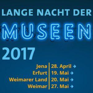 Bild mit Terminübersicht der Museumsnächte in Thüringen 2017