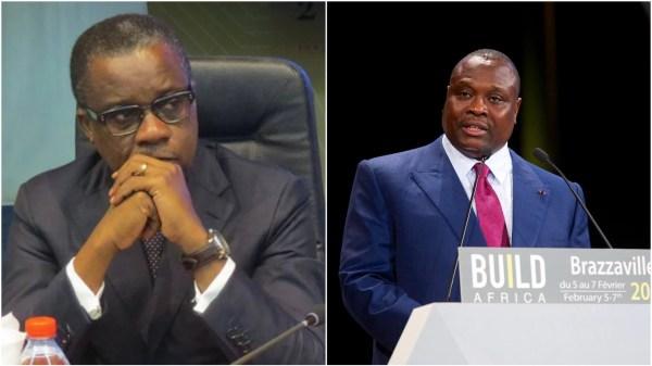 De gauche à droite: Alain Akouala Atipaut, ministre des zones économiques spéciales (ZES) et Jean Jacques Bouya, ministre des grands travaux. Photo Montage. Source: DR
