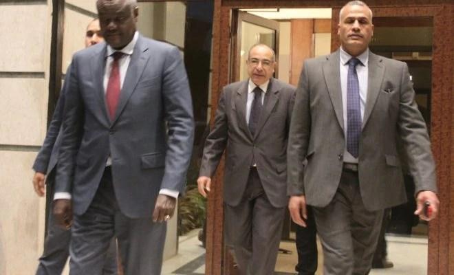 Le ministre des Affaires Étrangères du Tchad, Moussa Faki Mahamat au Caire.