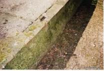 Bild 6: Fundamentplatte Seitenansicht, Ziegelaufbau, Foto Bendler.