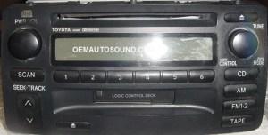 Toyota Corolla radio 8612002280 A56821 tape CD Player