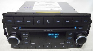 Dodge Nitro 2008 2009 Factory Stereo 6 Disc CD DVD Player