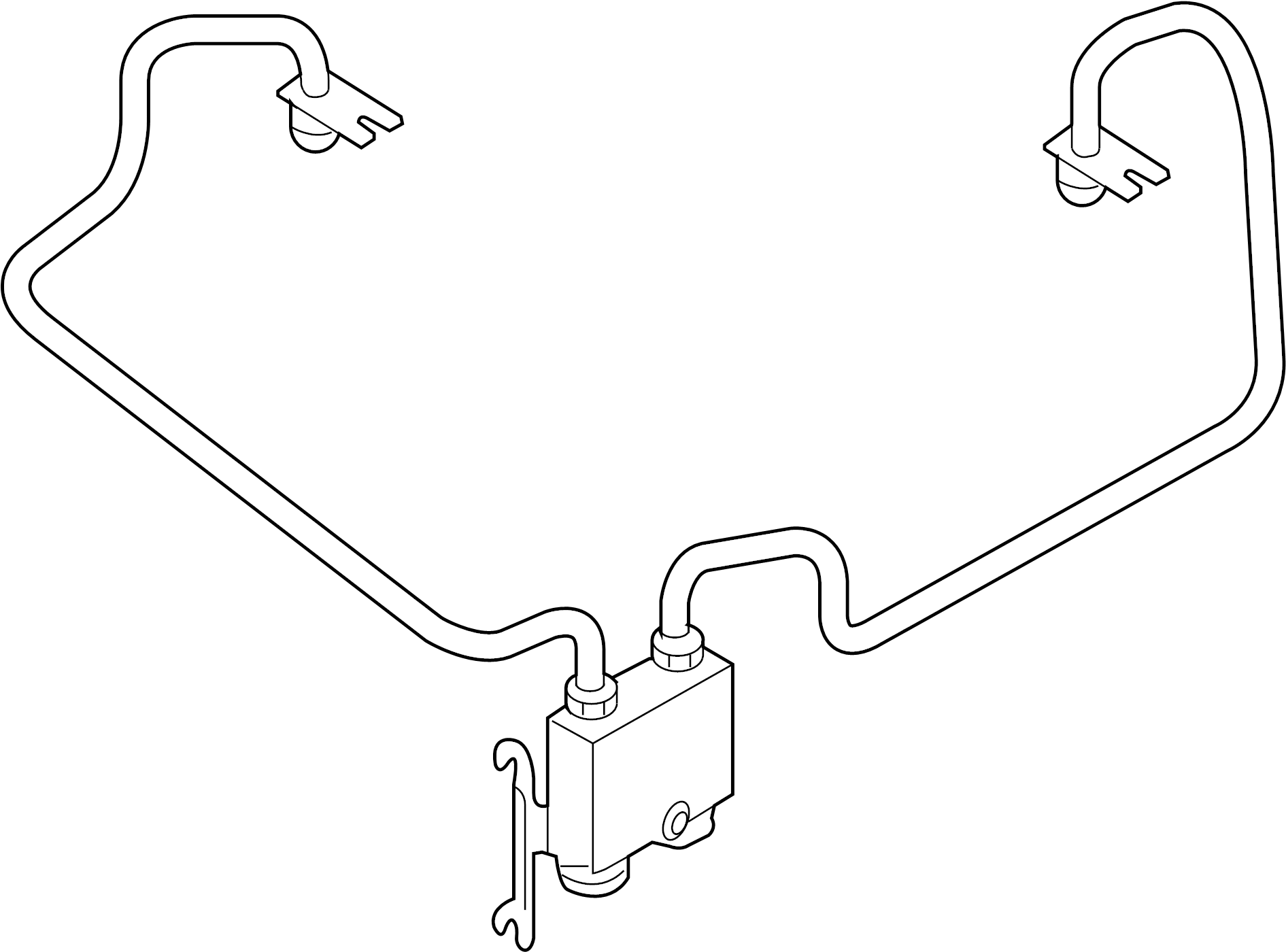 Mercury Sable Cooler Tube Transmission Oil Automatic