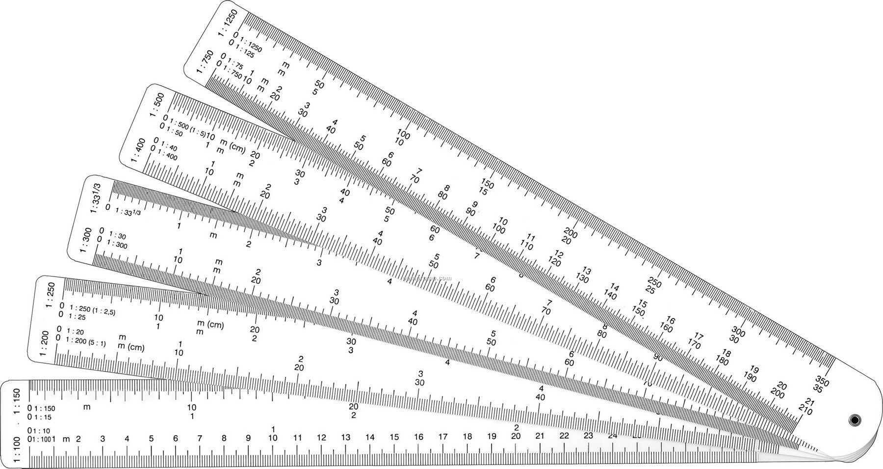 Fan Reduction Ruler 12