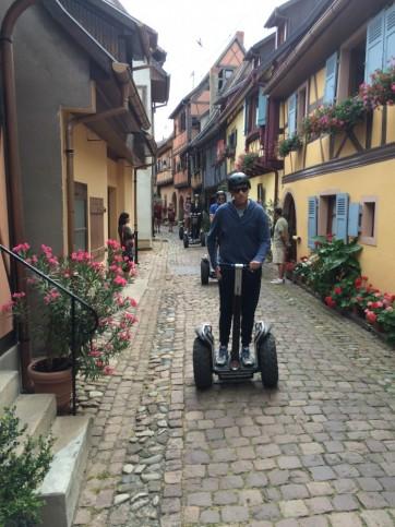 Les remparts d'Eguisheim en Segway