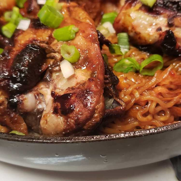Thai Chicken Thighs and Noodles