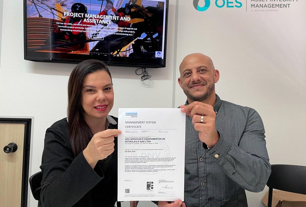 OES Brasil Recertify ISO 9001
